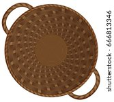 birchbark basket. realistic...   Shutterstock .eps vector #666813346
