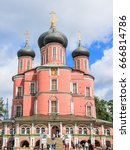donskoy monastery  moscow russia | Shutterstock . vector #666814786