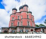 donskoy monastery  moscow russia | Shutterstock . vector #666814942