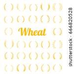 gold laurel wreath   a symbol... | Shutterstock .eps vector #666820528