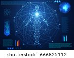abstract technology concept... | Shutterstock .eps vector #666825112