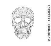 black and white illustration of ... | Shutterstock .eps vector #666826876