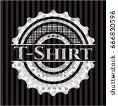 t shirt silver emblem | Shutterstock .eps vector #666830596