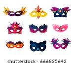 authentic handmade venetian... | Shutterstock .eps vector #666835642