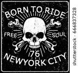 skull t shirt graphic design   Shutterstock .eps vector #666837328