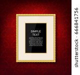 gold vintage picture frame on... | Shutterstock .eps vector #666841756