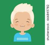 blond little boy laughing...