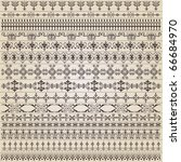 vintage border set for design | Shutterstock .eps vector #66684970