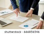 close up view of businessmen... | Shutterstock . vector #666856546