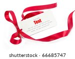 shiny red ribbon bow on white... | Shutterstock . vector #66685747