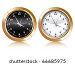 vector of analog golden wall...   Shutterstock .eps vector #66685975