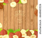 vintage banner with delicious... | Shutterstock .eps vector #666860326