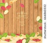 vintage banner with fresh... | Shutterstock .eps vector #666860332
