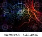 cpu mind series. arrangement of ... | Shutterstock . vector #666860536