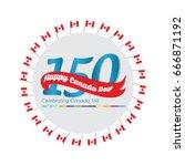 happy canada day vector... | Shutterstock .eps vector #666871192