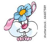 love bunny.  funny vector... | Shutterstock .eps vector #66687589