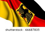 Flag of Germany against white background. Close up. - stock photo