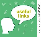 text useful links on digital... | Shutterstock . vector #666883366