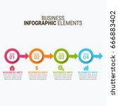 business infographic diagrams  | Shutterstock .eps vector #666883402