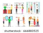 plumber store set. | Shutterstock .eps vector #666883525