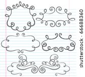 hand drawn sketchy notebook... | Shutterstock .eps vector #66688360