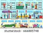 car service set. | Shutterstock .eps vector #666885748