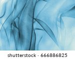 organza fabric in blue color   Shutterstock . vector #666886825