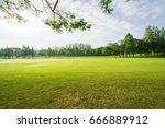 scenery green golf  and meadow... | Shutterstock . vector #666889912
