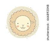 leo cute zodiac sign. | Shutterstock .eps vector #666892048