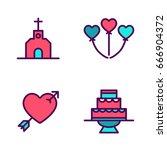 wedding icon | Shutterstock .eps vector #666904372