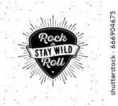 rock and roll sign. stay wild.... | Shutterstock .eps vector #666904675