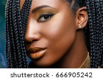 extreme close up facial beauty... | Shutterstock . vector #666905242