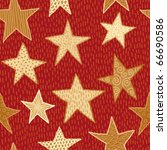 seamless red and gold stars | Shutterstock .eps vector #66690586