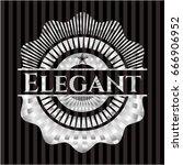 elegant silver shiny badge | Shutterstock .eps vector #666906952