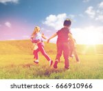 summer  childhood  leisure and... | Shutterstock . vector #666910966