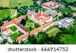 famous benediktbeuern monastery - bavaria - germany - stock photo