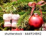 christmas bauble   christmas... | Shutterstock . vector #666914842