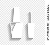 nail polish sign. vector. white ... | Shutterstock .eps vector #666915322