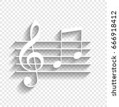 music violin clef sign. g clef... | Shutterstock .eps vector #666918412