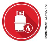 camping gas bottle icon. flat...   Shutterstock .eps vector #666927772