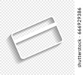 credit card symbol for download.... | Shutterstock .eps vector #666929386
