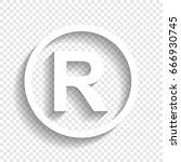 registered trademark sign.... | Shutterstock .eps vector #666930745
