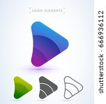 play and arrow sign logo... | Shutterstock .eps vector #666936112