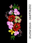 embroidery ethnic flower... | Shutterstock .eps vector #666936202