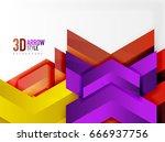 techno arrow background  vector ... | Shutterstock .eps vector #666937756