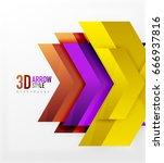 techno arrow background  vector ... | Shutterstock .eps vector #666937816