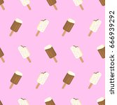 ice cream repeated pattern.... | Shutterstock .eps vector #666939292