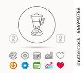 mixer icon. blender sign.... | Shutterstock .eps vector #666940786