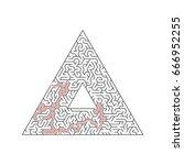 vector maze templates. circle... | Shutterstock .eps vector #666952255