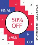 banner  flyer for printing. a... | Shutterstock .eps vector #666952426